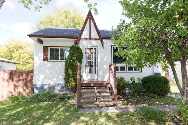 27 Bank Ave - St Vital HOUSE for sale, 2 Bedrooms (R2083696)