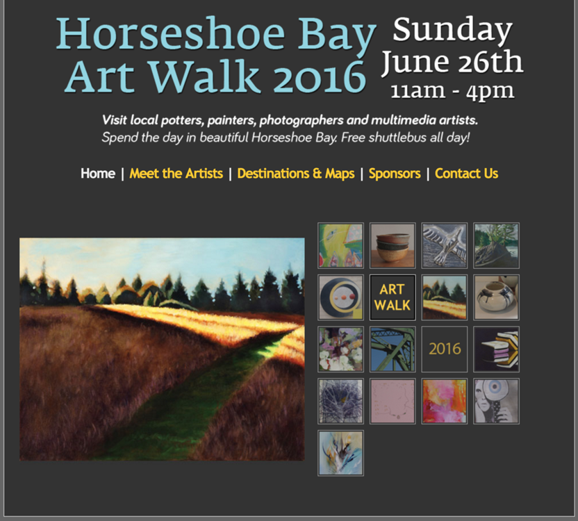 Horseshoe Bay Art Walk Website