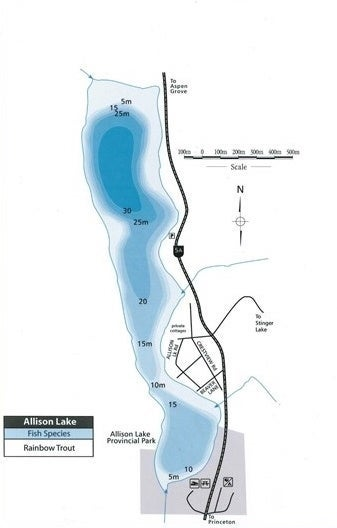Allison Lake Map