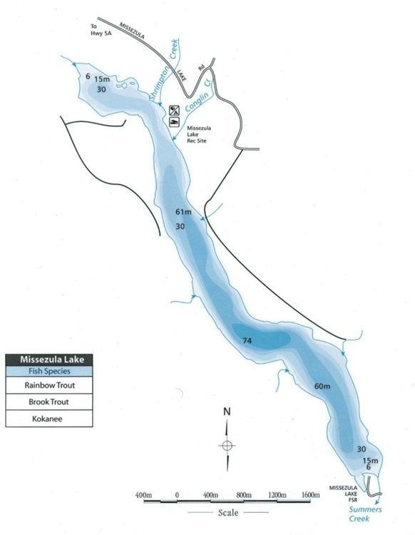 Missezula Lake Map