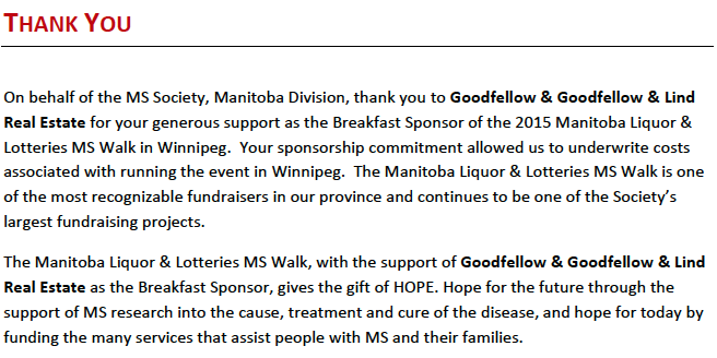 MS Society, goodfellow, lind, multiple sclorosis, real estate, community support, sponsors, winnipeg, the forks, mb liquor and lotteries, ms walk, 2015, charity