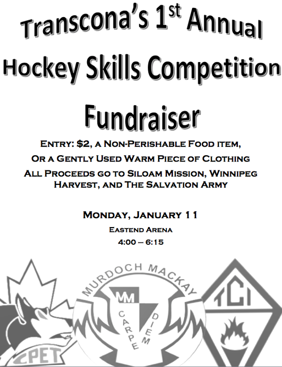 hockey, transcona, competition, transcona, high school, fundraiser, siloam mission, winnipeg harvest, salvation army, winnipeg, charity, players, community, goodfellow, lind, real estate, realtors