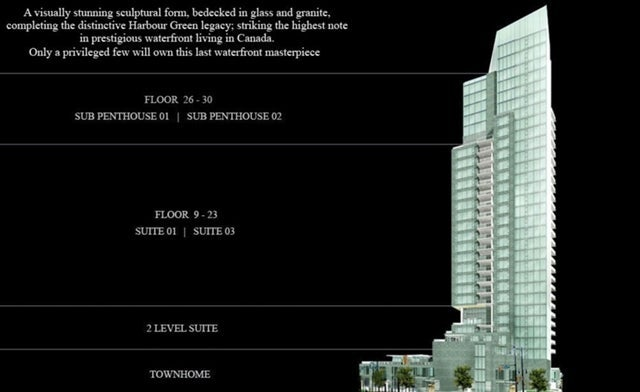 Three Harbour Green, said to be the most luxurious waterfront in Canada