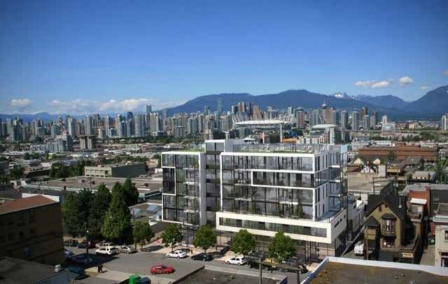 View of building high up with view of Downtown Vancouver