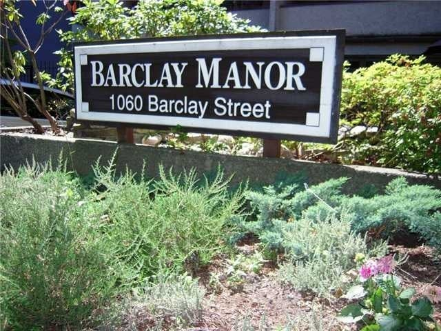 Barclay Manor   --   1060 BARCLAY ST - Vancouver West/West End VW #2
