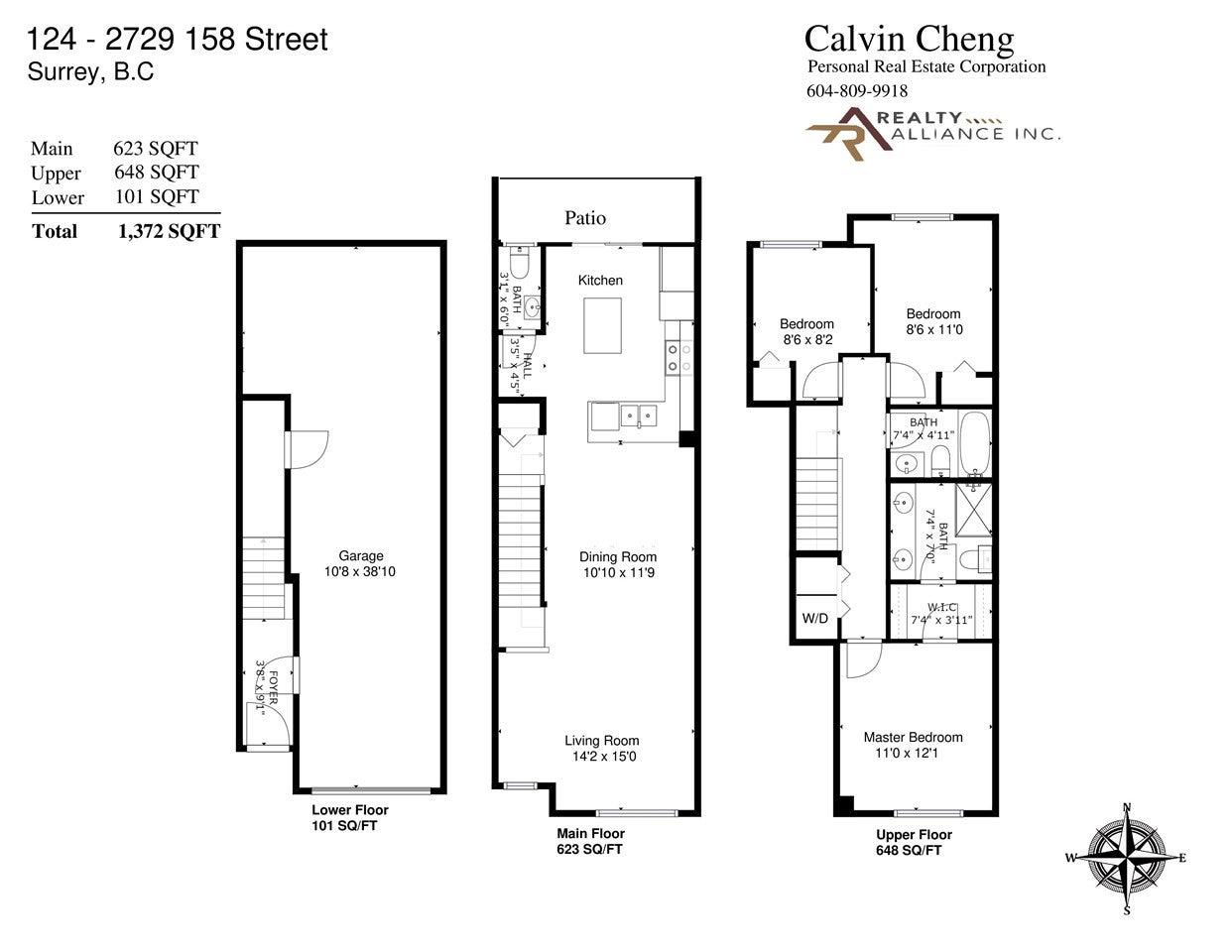 124-2729 158 Street Surrey BC V3Z 1P4 - Grandview Surrey Townhouse for sale, 3 Bedrooms (R2560648) #10