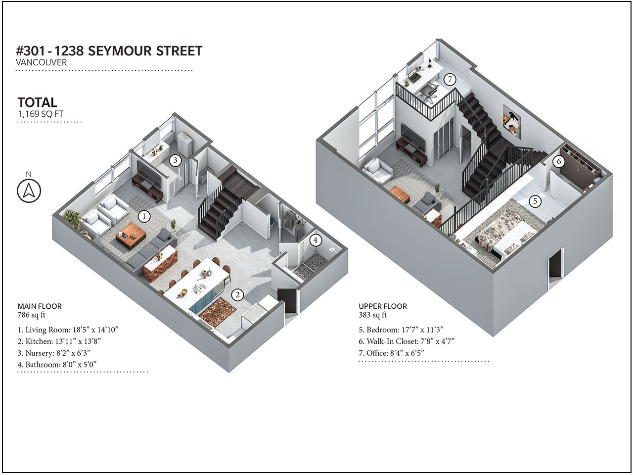 301 - 1238 Seymour Street, Vancouver - Downtown VW LOFTS for sale, 2 Bedrooms (R2168508) #19