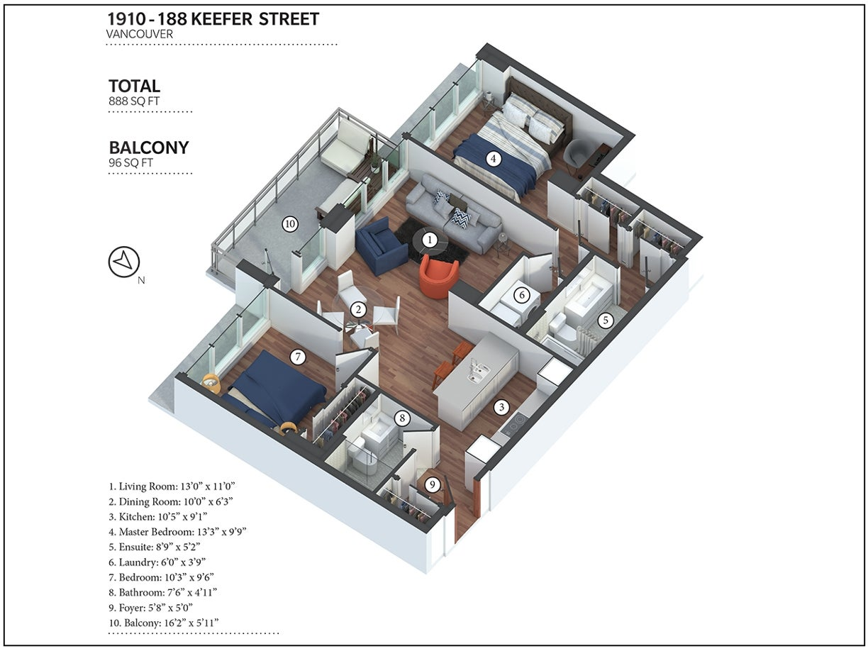 1910 - 188 Keefer Street - Downtown VE Apartment/Condo for sale, 2 Bedrooms (R2123573) #24