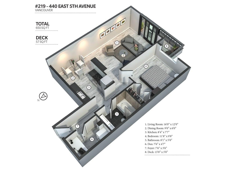 219 - 440 East 5th Avenue - Mount Pleasant VE Apartment/Condo for sale, 1 Bedroom  #3