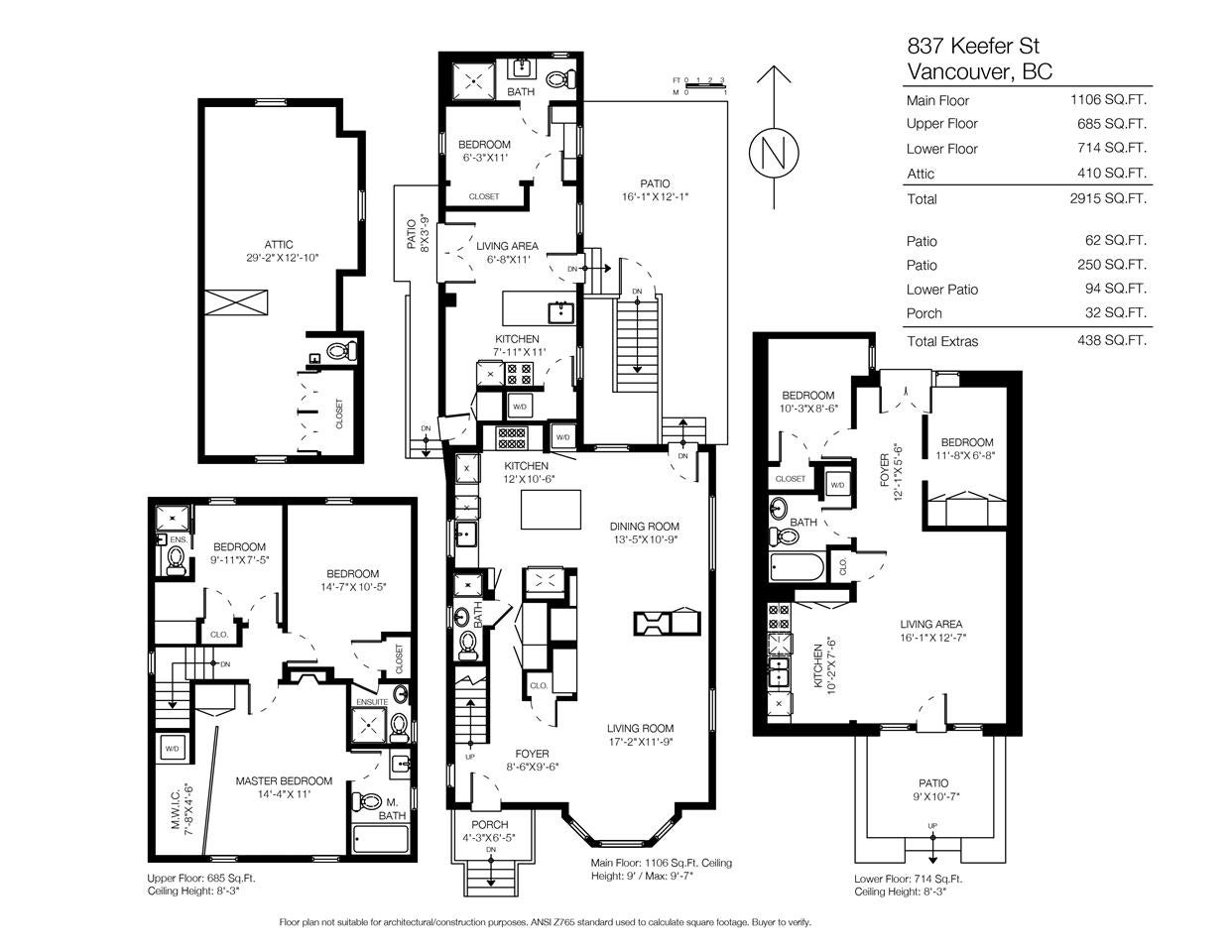 837 KEEFER STREET - Vancouver East House/Single Family For