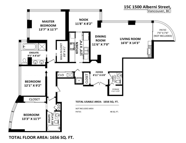 15C 1500 ALBERNI STREET - West End VW Apartment/Condo for sale, 3 Bedrooms (R2578456) #37