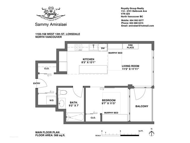 # 1103 158 W 13TH ST - Central Lonsdale Apartment/Condo for sale, 1 Bedroom (V1121582) #12