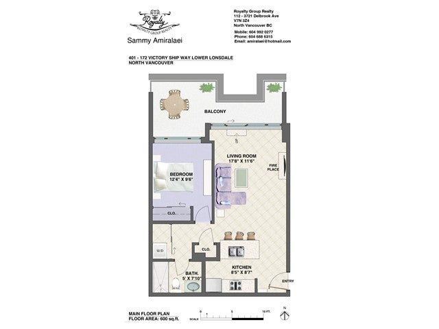 # 401 172 VICTORY SHIP WY - Lower Lonsdale Apartment/Condo for sale, 1 Bedroom (V1121631) #11