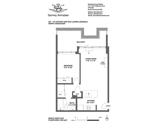 # 401 172 VICTORY SHIP WY - Lower Lonsdale Apartment/Condo for sale, 1 Bedroom (V1121631) #12