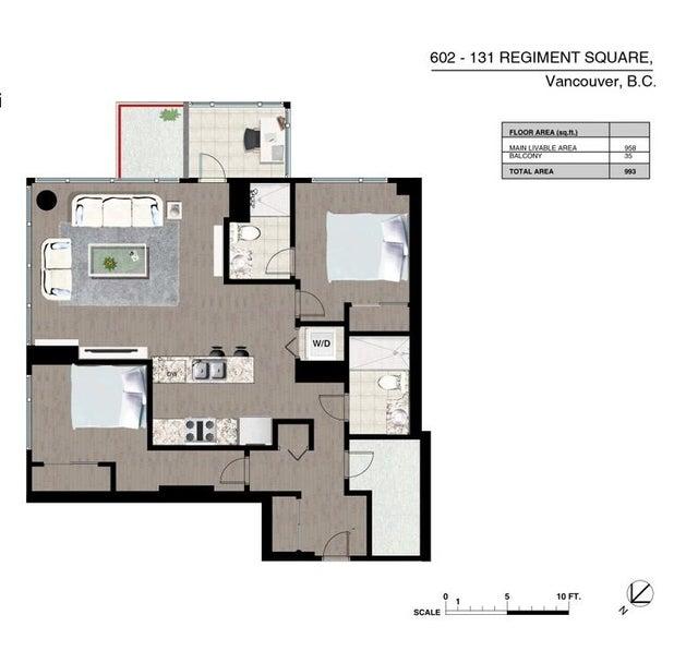 602 131 REGIMENT SQUARE - Downtown VW Apartment/Condo for sale, 2 Bedrooms (R2015323) #17