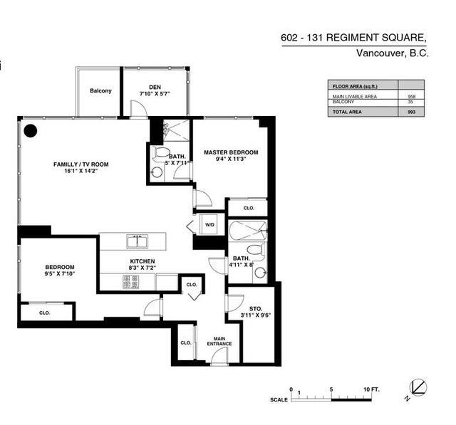 602 131 REGIMENT SQUARE - Downtown VW Apartment/Condo for sale, 2 Bedrooms (R2015323) #18