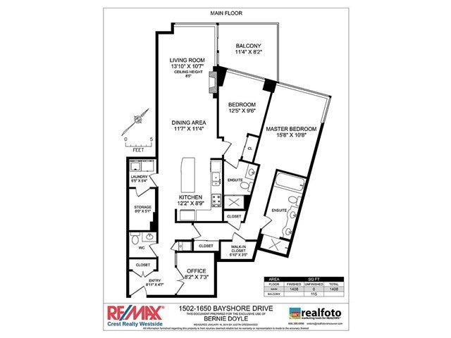 # 1502 1650 BAYSHORE DR - Coal Harbour Apartment/Condo for sale, 2 Bedrooms (V1042387) #20