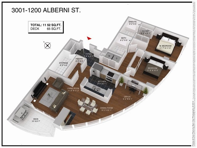 # 3001 1200 ALBERNI ST - West End VW Apartment/Condo for sale, 2 Bedrooms (V1063532) #6