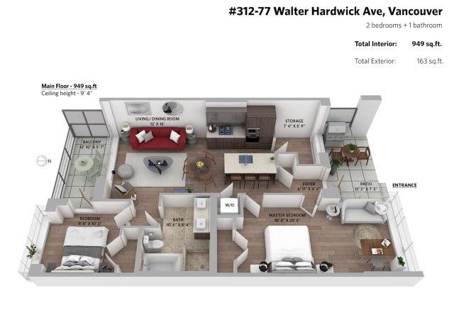 312 77 WALTER HARDWICK AVENUE - False Creek Apartment/Condo for sale, 2 Bedrooms (R2369015) #14