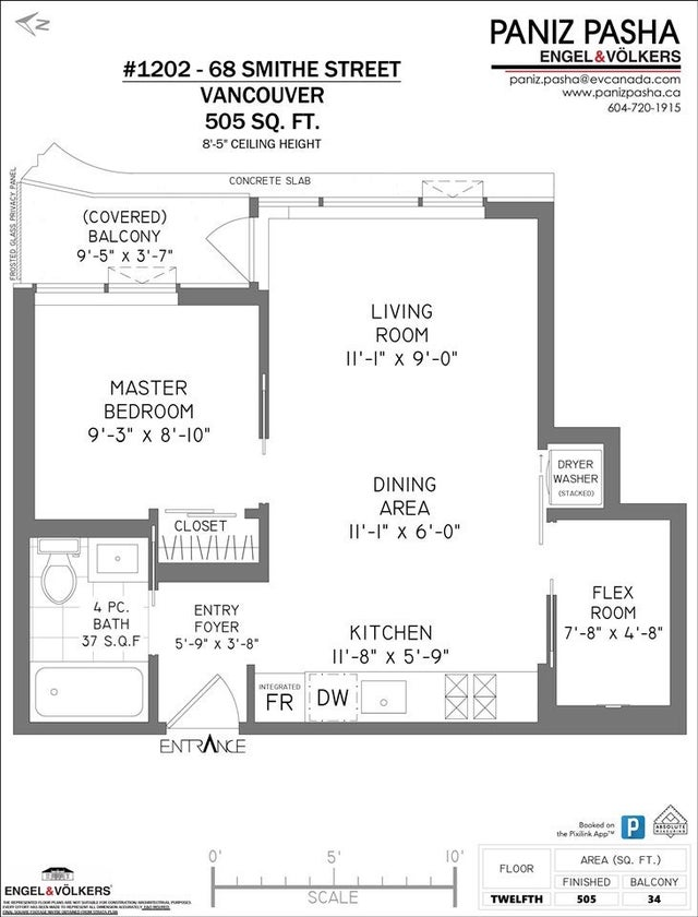 1202 68 SMITHE STREET - Downtown VW Apartment/Condo for sale, 1 Bedroom (R2587427) #29