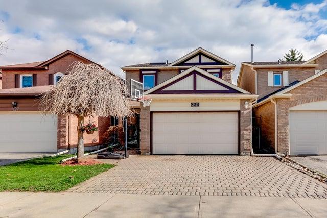 233 Tansley Road, Vaughan, Ontario L4J 2Y8 - Brownridge HOUSE for sale, 3 Bedrooms (N3485010)