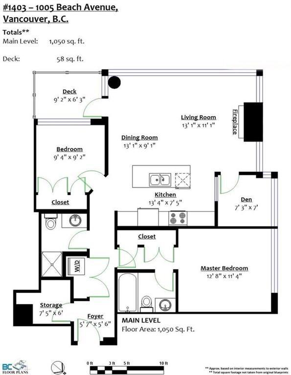 1403 1005 BEACH AVENUE - West End VW Apartment/Condo for sale, 2 Bedrooms (R2190399) #20