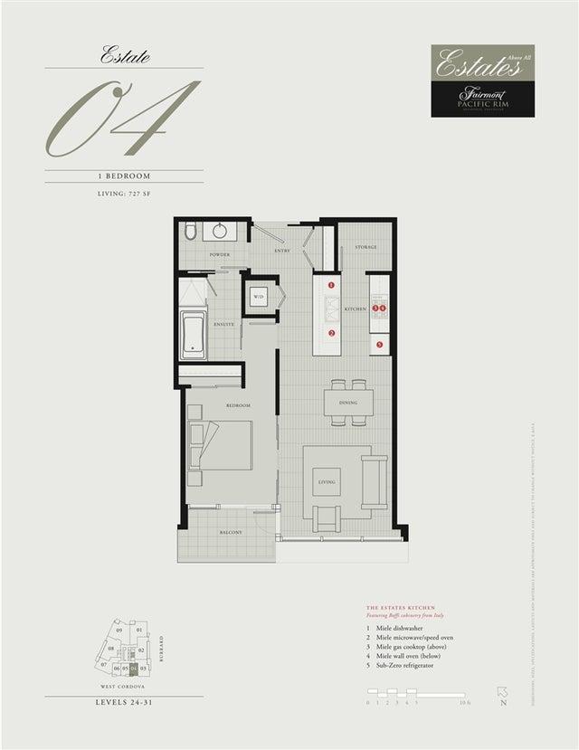 2604 1011 W CORDOVA STREET - Coal Harbour Apartment/Condo for sale, 1 Bedroom (R2208752) #4