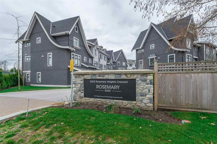 15 3303 ROSEMARY HEIGHTS CRESCENT - Morgan Creek Townhouse for sale, 3 Bedrooms (R2249561)