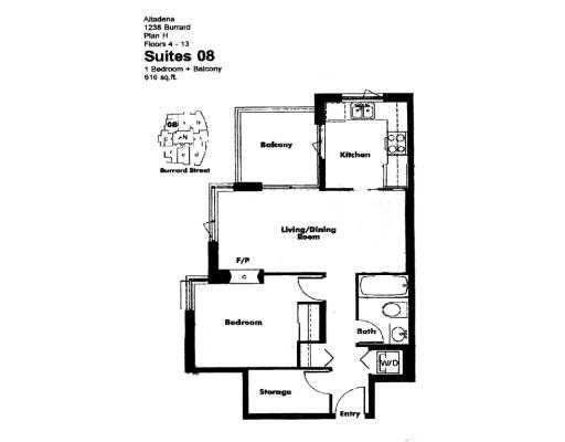 # 708 1238 BURRARD ST - Downtown VW Apartment/Condo for sale, 1 Bedroom (V648985) #6