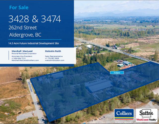 3428/3474 262nd St Aldergrove - Aldergrove Langley Land for sale