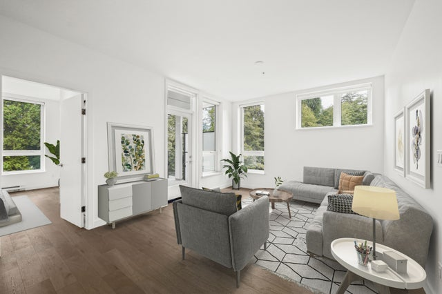 virtually staged - living room.