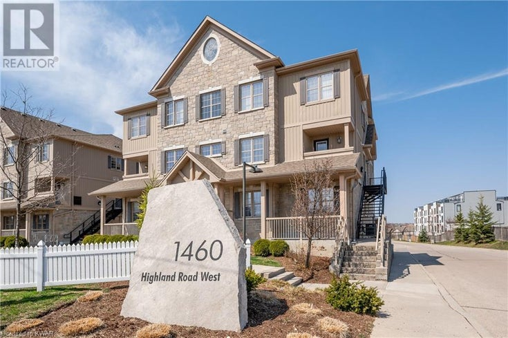 1460 HIGHLAND Road W Unit# 1B - Kitchener Row / Townhouse for sale, 2 Bedrooms (40095929)