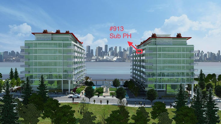 Sub PH  #913-175 Victory Ship Way, North Vancouver, BC - Lower Lonsdale Apartment/Condo for sale, 1 Bedroom