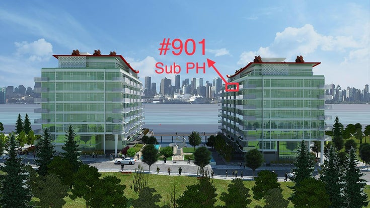 Sub PH #901-175 Victory Ship Way, North Vancouver, BC - Lower Lonsdale Apartment/Condo for sale, 1 Bedroom
