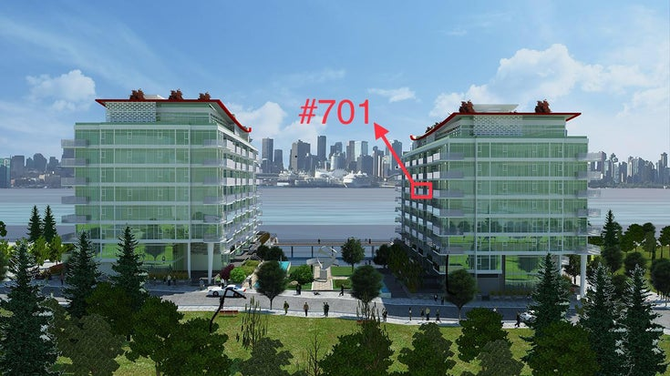 #701 - 175 Victory Ship Way, North Vancouver, BC - Lower Lonsdale Apartment/Condo for sale, 1 Bedroom