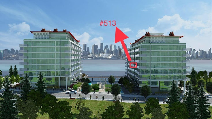 #513 - 175 Victory Ship Way, North Vancouver, BC - Lower Lonsdale Apartment/Condo for sale, 1 Bedroom