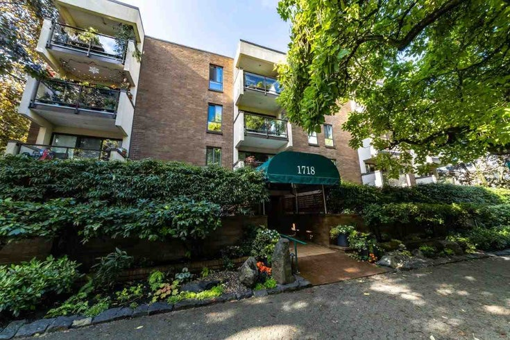 408 1718 NELSON STREET - West End VW Apartment/Condo for sale, 1 Bedroom (R2406644)