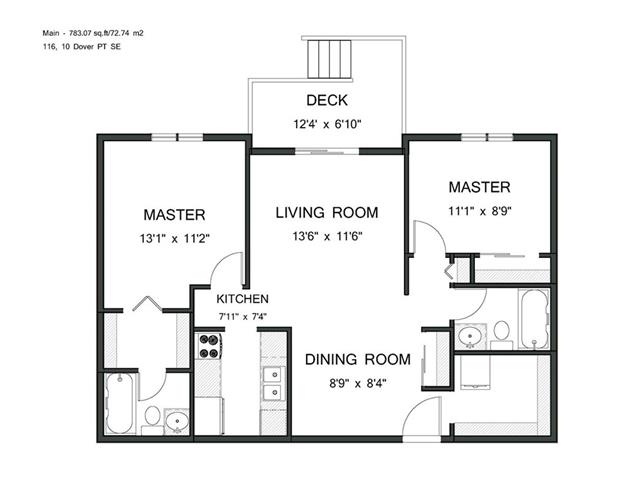 #116 10 DOVER PT SE - Dover Apartment for sale, 2 Bedrooms (C4104454)