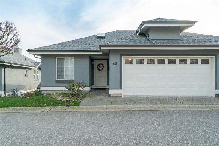 43 2068 WINFIELD DRIVE - Abbotsford East Townhouse for sale, 2 Bedrooms (R2332495)