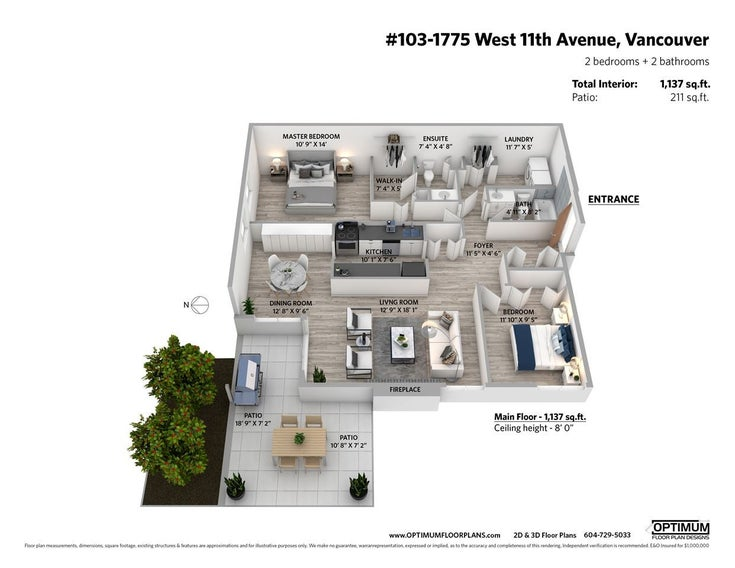 103 1775 W 11 AVENUE - Fairview VW Apartment/Condo for sale, 2 Bedrooms (R2473409)