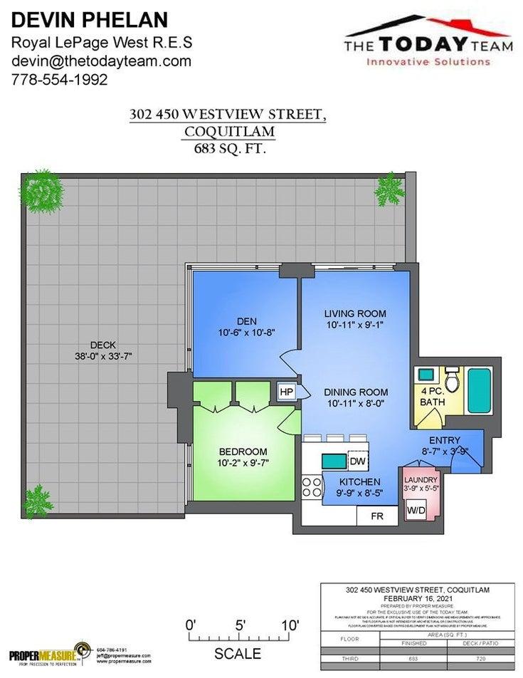 302 450 WESTVIEW STREET - Coquitlam West Apartment/Condo for sale, 1 Bedroom (R2568457)