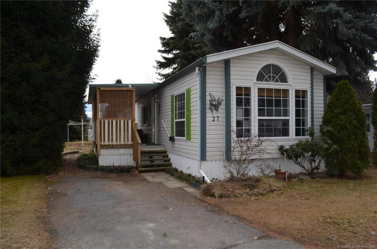 #27 3535 Casorso Road, - Kelowna Manufactured Home/Mobile for sale, 2 Bedrooms (10221604)