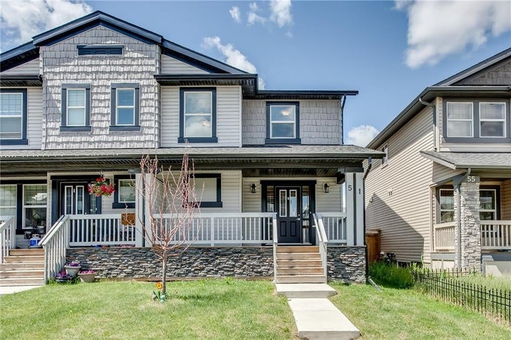 51 Skyview Ranch LANE NE - Skyview Ranch Semi Detached for sale, 3 Bedrooms (A1148610)
