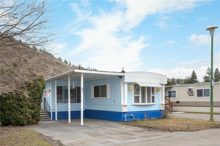 #49 1929 97 Highway, S - West Kelowna Manufactured Home/Mobile for sale, 2 Bedrooms (10226140)