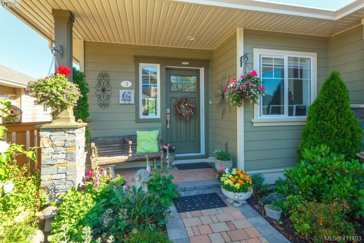 3 7053 West Saanich Rd - CS Brentwood Bay Row/Townhouse for sale, 4 Bedrooms (411493)