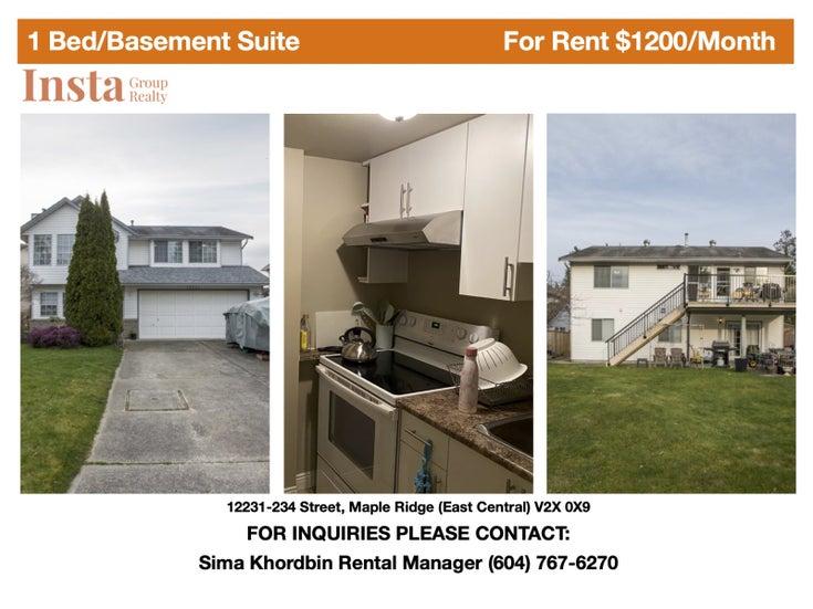 12231-234 Street, Maple Ridge  - East Central House/Single Family for sale, 1 Bedroom