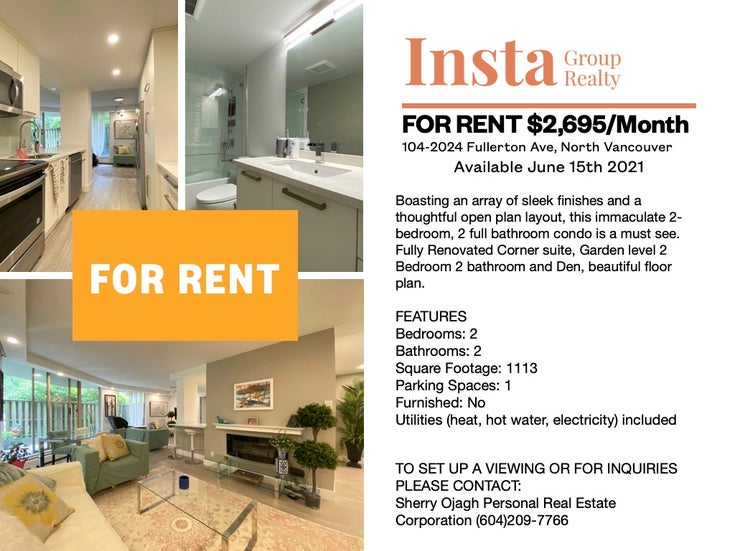 104-2024 Fullerton Avenue, North Vancouver, BC  - Pemberton NV Apartment/Condo for sale, 2 Bedrooms