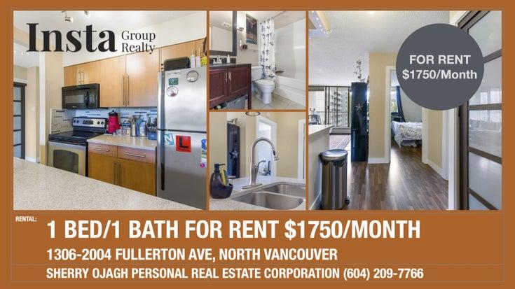 1306-2004 Fullerton Ave, North Vancouver, BC  - Pemberton NV Apartment/Condo for sale, 1 Bedroom