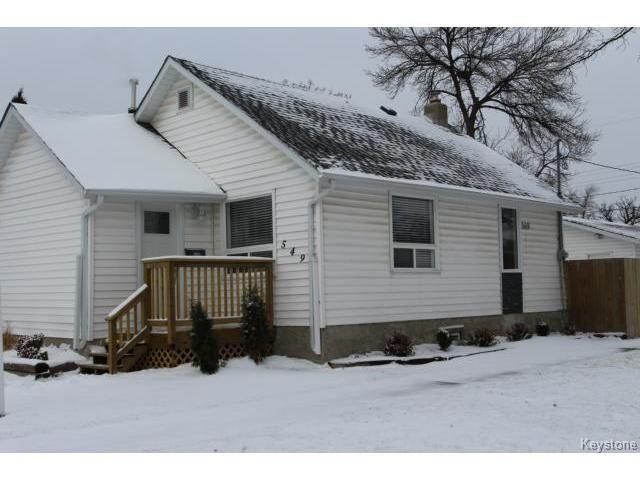 549 St Catherine Street  - Winnipeg HOUSE for sale, 2 Bedrooms (1424430)