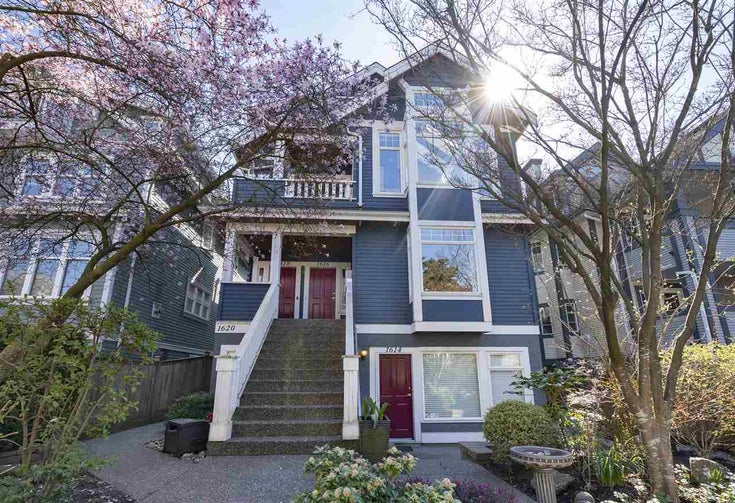 1616 Grant Street - Grandview Woodland Townhouse for sale, 2 Bedrooms (R2361317)